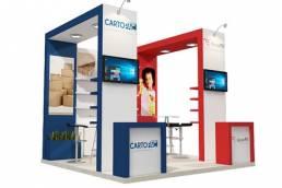 diseño stand para expo CARTOPAC